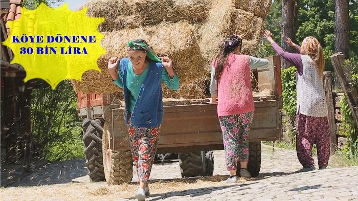 Köye Dönene 30 Bin Lira