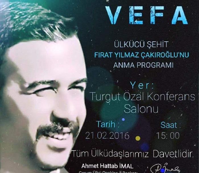 Ülkü Ocaklarından Çakıroğlu'nu Anma Programı