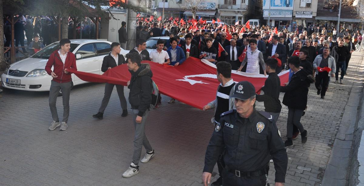 Bayat'ta Bahar Kalkanı Harekâtına Destek Yürüyüşü