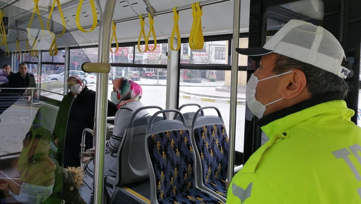 Emniyet Müdürlüğü Toplu Taşımada Denetim Yaptı