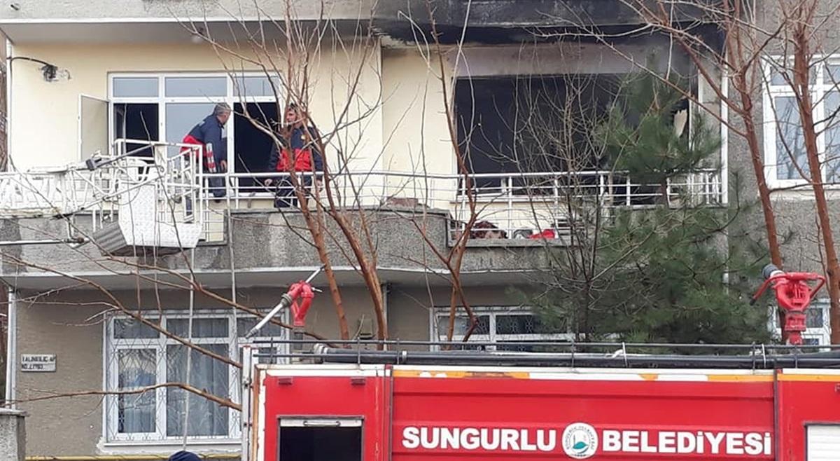 Sungurlu'da Ev Yangını Korkuttu