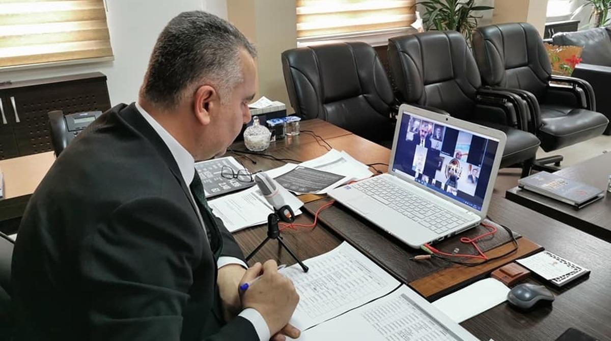 Ahlatcı'dan Video Konferanslı Toplantı