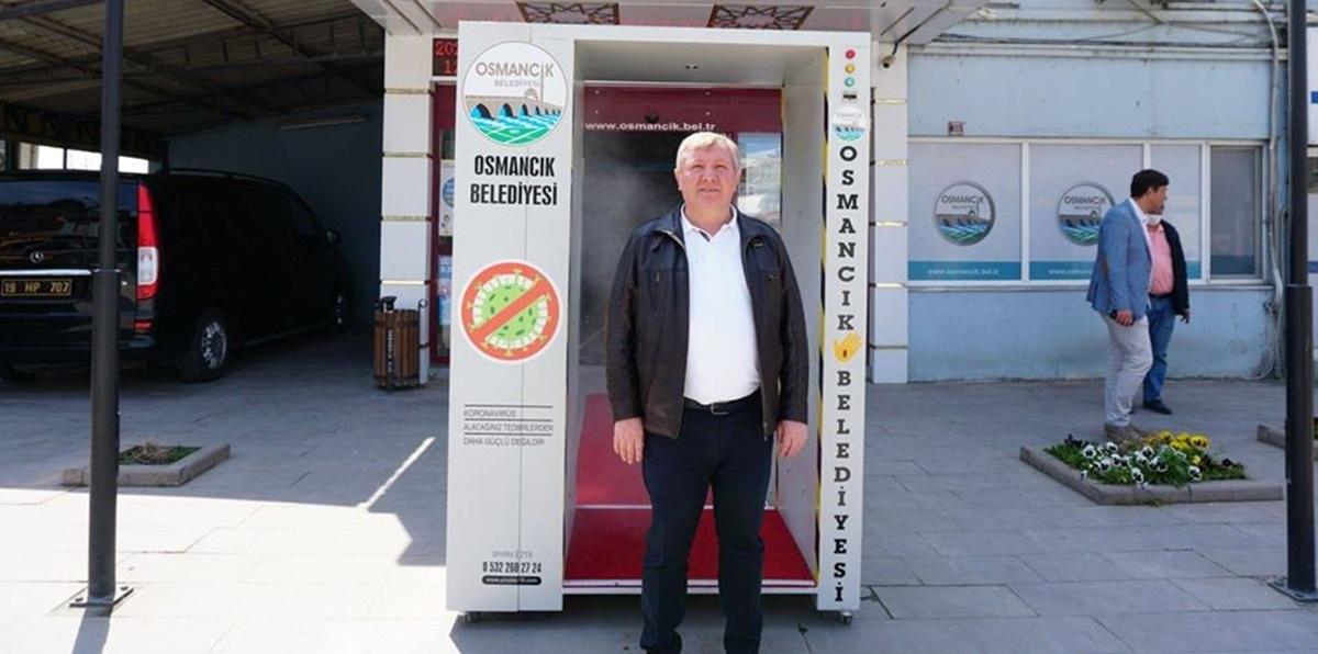 Osmancık'ta Koronavirüse Karşı Dezenfekte Tüneli