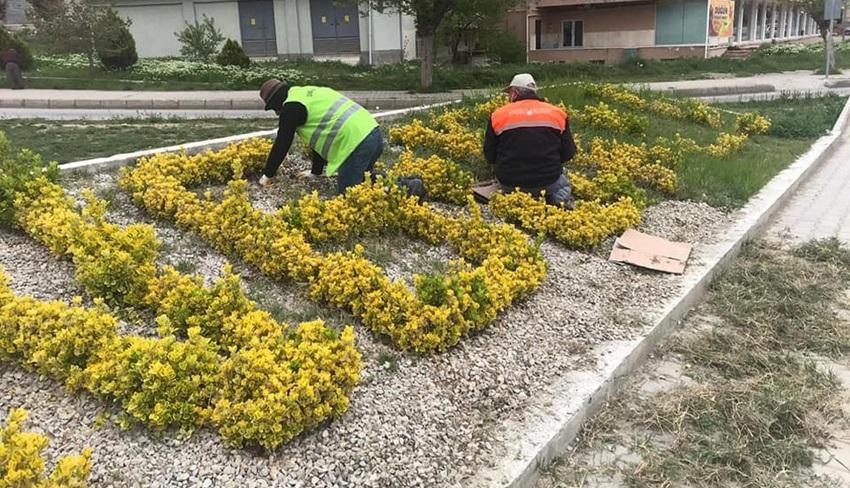 Sungurlu Belediyesi Bahar Temizliği Yapıyor