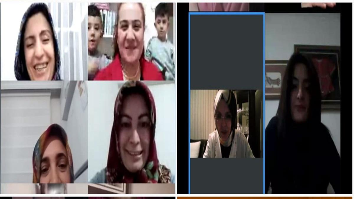 AK Kadınlar Telekonferansla Biraraya Geldi