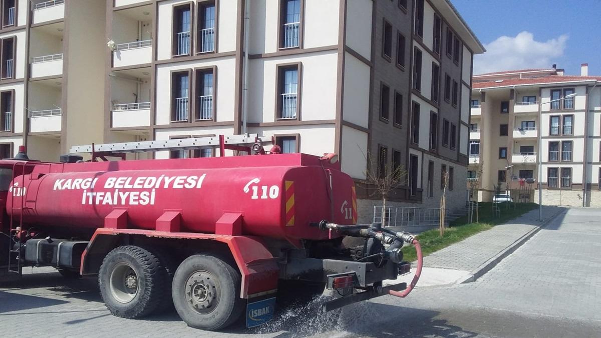 Kargı Sokakları Dezenfekte Edildi