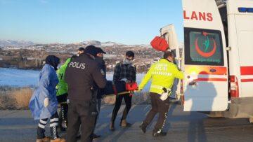 Takla Atan Sürücü Yaralandı