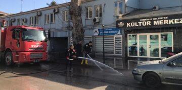 Osmancık Belediyesi Kısıtlamada Sokakları Yıkadı