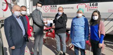 Oğuzlar'da Kan Bağışçıları Madalyalandı
