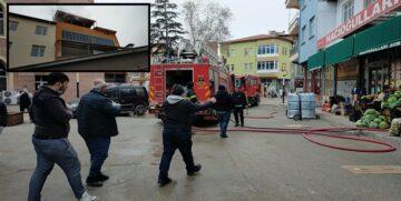 Osmancık'ta Bir Markette Yangın Çıktı