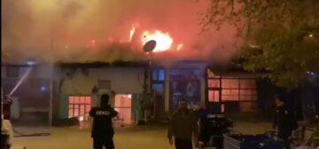 Çorum'da Korkutan Yangın: 4 Dükkan Tamamen Yangın