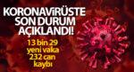 Türkiye'de Bugün13.029 Koronavirüs Vakası Görüldü