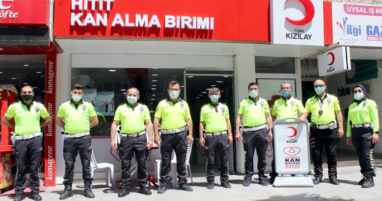 Trafikçilerden Kan Bağışına Destek!