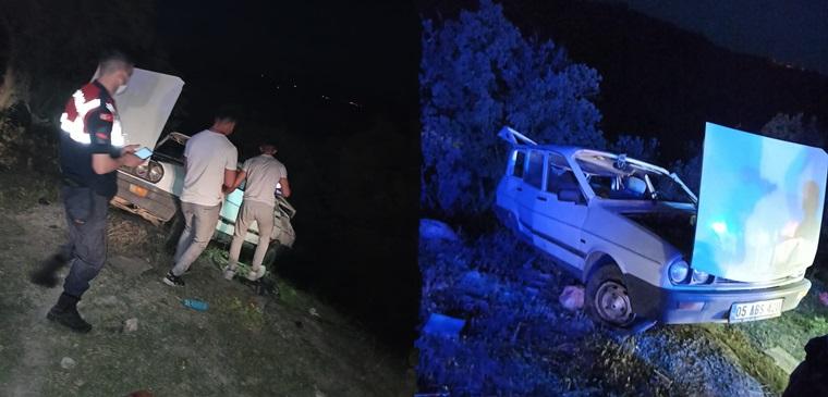 Otomobil Takla Attı: 1'i Çocuk 4 Yaralı