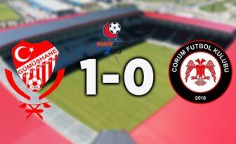 Gümüşhanespor : 1-Çorum FK : 0