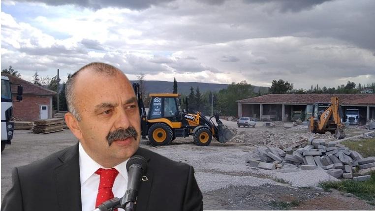 Ortaköy'de Tekstil Atölyesi İnşaatı Başladı