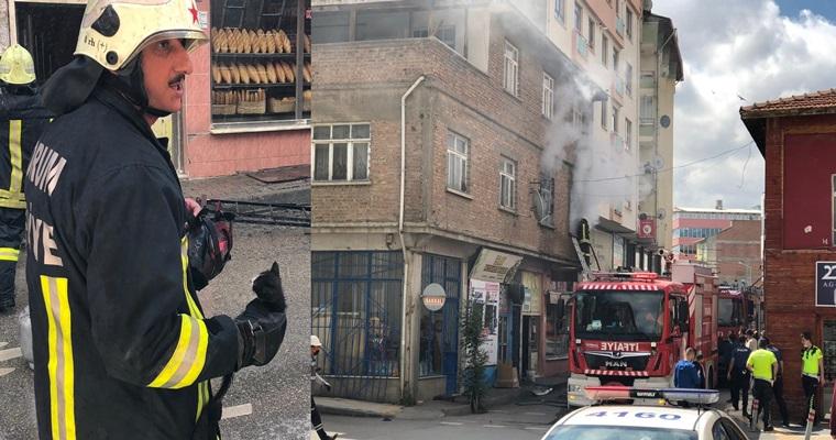 Yangında Mahsur Kalan Kedileri İtfaiye Kurtardı