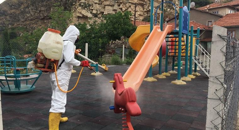 İskilip Belediyesi Dezenfekte İşine Hız Verdi