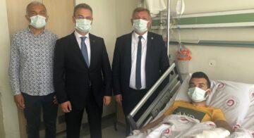 Başkan Gelgör'den, Yaralı Astsubaya Moral Ziyareti