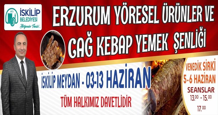 İskilip'te Erzurum Tanıtım Günleri Yapılacak