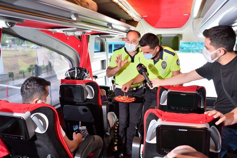 Çorum'da Şehirler Arası Otobüslere Sıkı Denetim