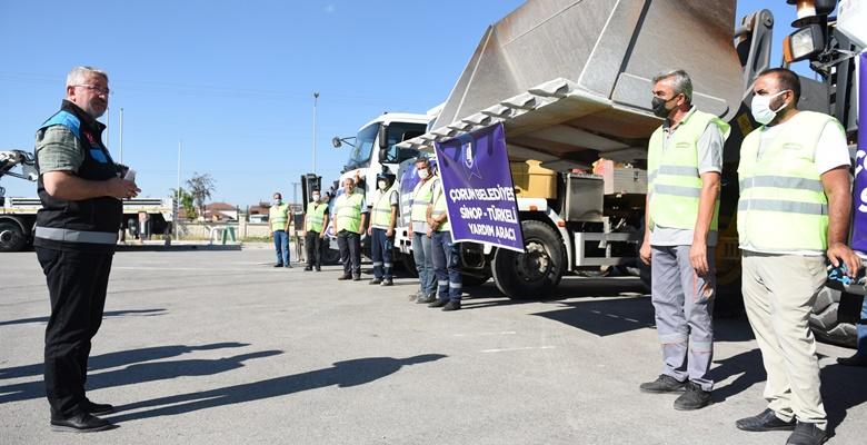 Belediye'den Sinop'a Yardım Eli