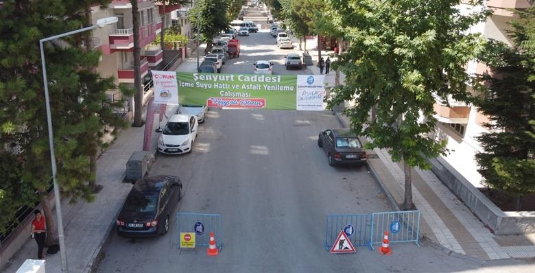 Şenyurt Caddesinde Yenileme Çalışmaları Yapılıyor