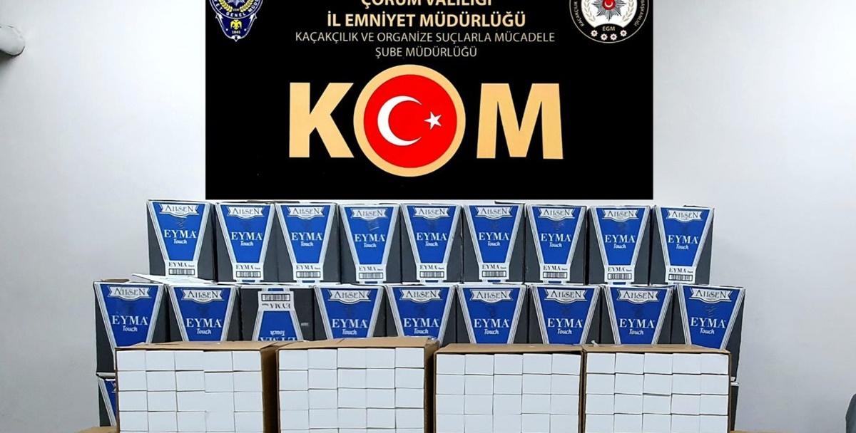 Osmancık'ta Kaçak Sigara Ele Geçirildi