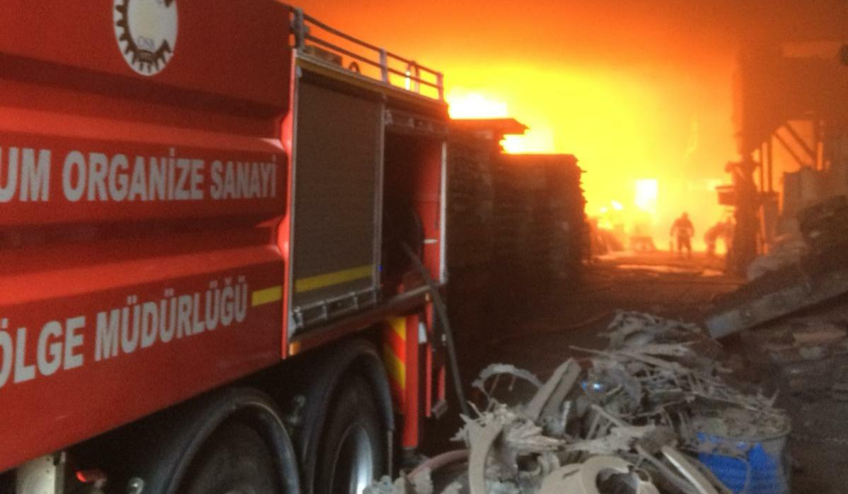 Organize Sanayinde Yangın Çıktı