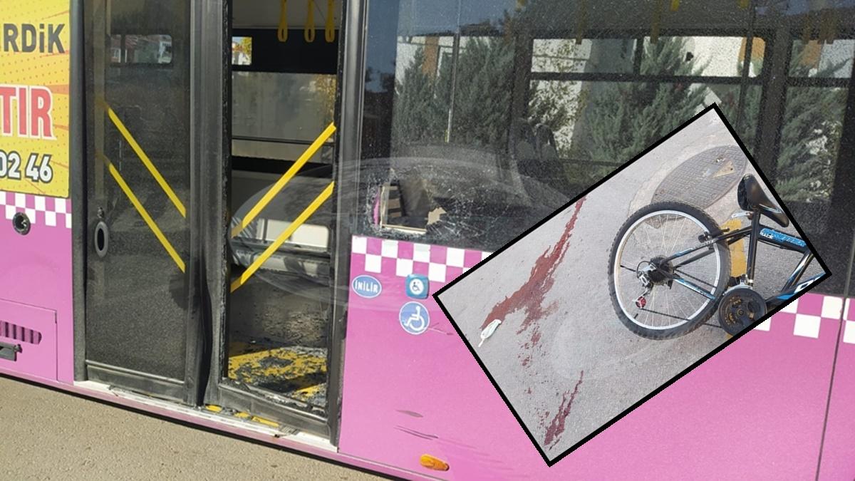 Otobüse Çarpan Küçük Çocuk Ağır Yaralandı