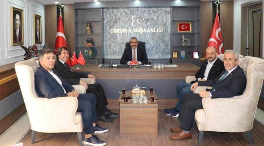 """TSO Heyetinden MHP'ye """"Hayırlı Olsun"""" Ziyareti"""