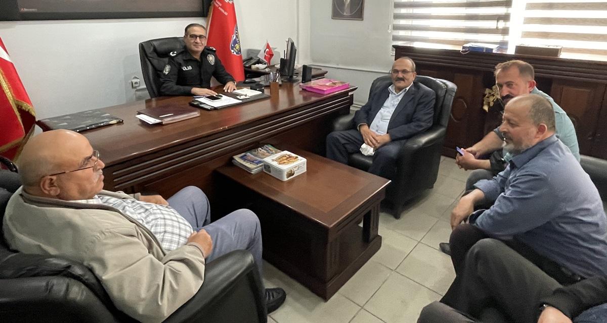 """Başkan Şen'den Emniyet Müdürüne """"Hayırlı Olsun"""" Ziyareti"""