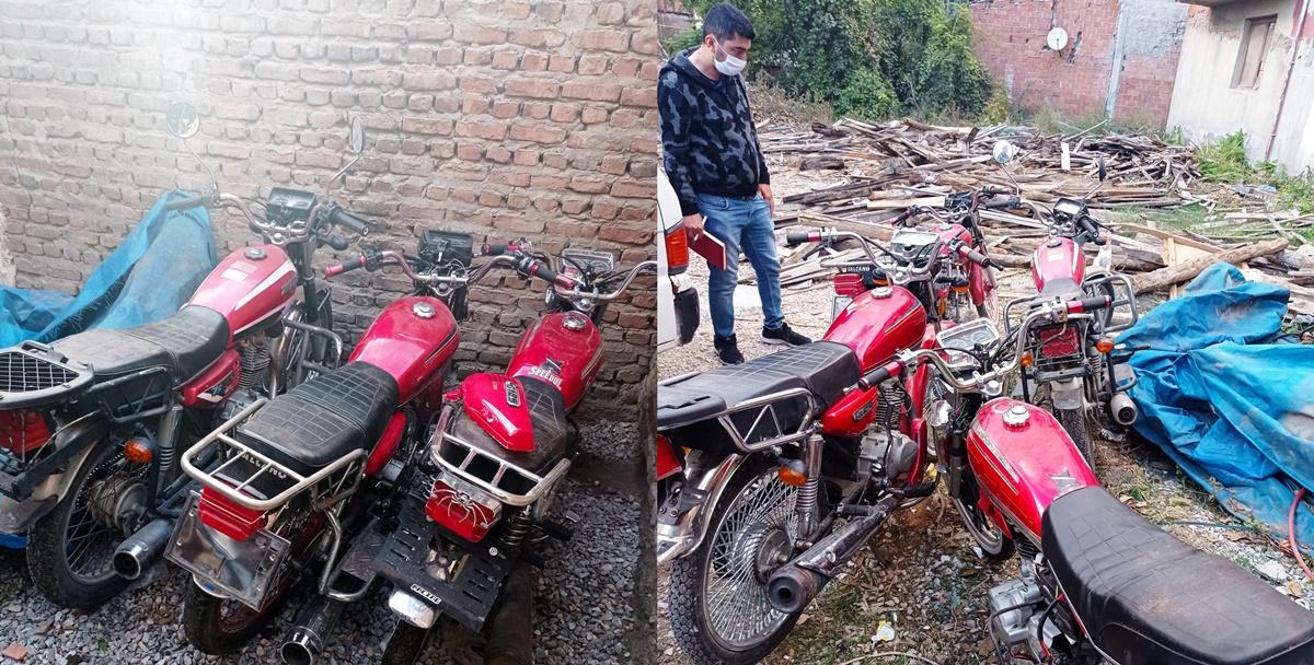 Çaldığı Motosikletleri Evinin Bahçesinde Sakladı